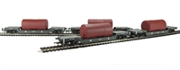 Bachmann Branchline 33-879A Pack of 4 45 Ton bogie well wagon in LNER grey with boiler load