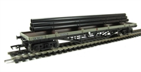 Bachmann Branchline 33-929B 30 Ton Bogie Bolster in BR grey with Steel Pipes