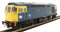 Heljan 3431 Class 33/0 diesel 6544 in BR blue with full yellow ends