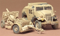 Tamiya 35044 British 25 pounder & C8 Quad Gun Tractor with figure