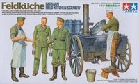 Tamiya 35247 German Field Kitchen (Feldkuche) with wheeled oven, 2 chefs & 2 troops