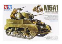 Tamiya 35313 M5A1 with 4 Figures