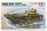 Tamiya 35336 Ford GPA Amphibious Jeep with 3 US infantry figures