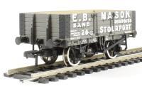 Bachmann Branchline 37-038 5 plank wagon with steel floor in E. B. Mason livery