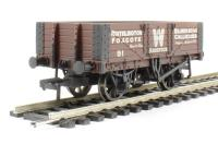 Bachmann Branchline 37-065 5 plank wagon with wooden floor in Writhlington livery - weathered
