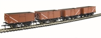 Bachmann Branchline 37-226F Pack of 4 16 ton steel mineral wagon with top flap doors in BR bauxite