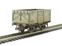 Bachmann Branchline 37-253B 16 ton steel mineral wagon without top flap doors in BR grey - weathered