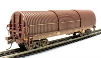 Bachmann Branchline 37-628B 102 Tonne GLW Thrall BRA steel strip carrier in EWS livery - weathered
