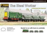Graham Farish 370-140 The Steel Worker with Class 08 D3406 in BR green & 3 x 24-Ton ore hopper wagons