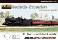 Graham Farish 370-180 Seaside Excursion with Class 4F 44044 in BR black with late crest and BR Mk1 BCK & SO coaches in maroon