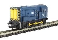 Graham Farish 371-015C Class 08 Shunter 08672 in BR Blue with Wasp Stripes
