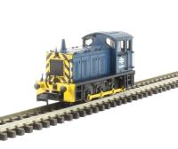 Graham Farish 371-051C Class 04 Shunter D2295 in BR Blue with Wasp Stripes