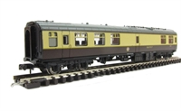 Graham Farish 374-109 Mk1 RMB mini buffet car in chocolate & cream (Blue Riband)