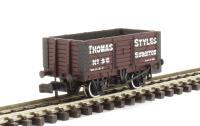 Graham Farish 377-077A 7 Plank Fixed End Wagon 'Thomas Styles'