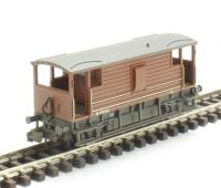 Graham Farish 377-302 20 Ton Ex-LMS Brake Van BR Bauxite (Late) - Weathered