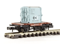 Graham Farish 377-326B^ Conflat With AF Container in light blue