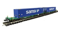Graham Farish 377-356 Intermodal Bogie Wagons With Two 45ft Containers 'Samskip'.