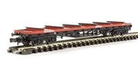 Graham Farish 377-601B 80 Tonne glw BDA Bogie Bolster Wagon BR Railfreight Red