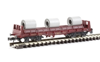 Graham Farish 377-902 BZA Steel Carrier Wagon with Coils EWS