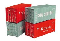 Graham Farish 379-350A Pack 20ft Containers 'China Shipping & K-Line' x 4