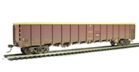 Bachmann Branchline 38-242^ MBA Megabox high-sided bogie box wagon in EWS livery - weathered (without buffers)