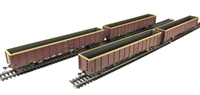 Bachmann Branchline 38-242^ Pack of 4 MBA Megabox high-sided bogie box wagon in EWS livery - weathered (without buffers)