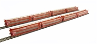 Bachmann Branchline 38-250 Pack of 4 IPA twin double deck car transporter in 'STVA' red livery