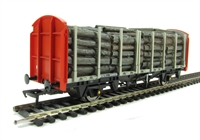 Bachmann Branchline 38-300 OTA (ex-VDA) timber carrier with lumber load in BR Railfreight livery