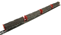Bachmann Branchline 38-300 Pack of 4 OTA (ex-VDA) timber carrier with lumber load in BR Railfreight livery