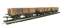 Bachmann Branchline 38-340 Pack of 3 13 Ton high sided steel open wagons in BR bauxite - weathered