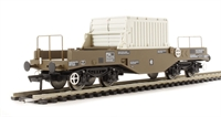 Bachmann Branchline 38-346A^ FNA nuclear flask wagon with sloping floor, changeover valve & round buffers in standard Buff livery - Flask 21