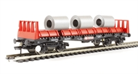 Bachmann Branchline 38-352A BAA steel carrier with steel coils in Railfreight red & black
