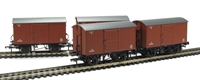 Bachmann Branchline 38-376^~ Pack of 4 12 Ton ventilated van with planked ends in BR bauxite (early)