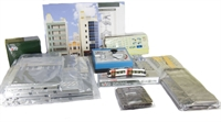 Kato 40-900 UniTram Starter Set with a Power Pack & Portram Tram TLR0601 in Blue/White