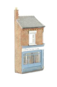 Graham Farish 42-230 Low Relief Corner Cafe (35 x 9 x 56mm)