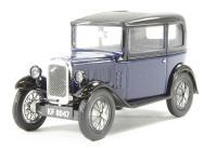 Oxford Diecast 43ASS002 Austin Seven RN Saloon Light Royal Blue