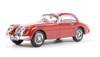 Oxford Diecast 43JAGXK150003 Jaguar XK150 FHC (Fixed Head Coupe) in Carmen red