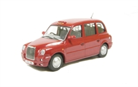 Oxford Diecast 43TX4006 TX4 Taxi in Nightfire Red