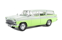 Oxford Diecast 43VFE004 Vauxhall Cresta Friary Estate in Swan White/Lime Yellow