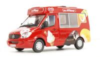 "Oxford Diecast 43WM001 Mondial Ice Cream Van ""Walls Ice Cream, Whitby"""