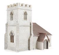 Bachmann Branchline 44-239 Low Relief 3/4 View Church (140 x 80 x 125mm)