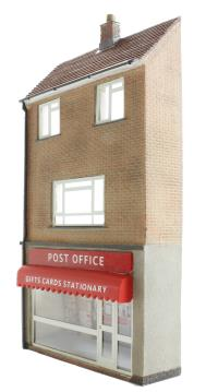 Bachmann Branchline 44-248 Low relief post office with maisonette (70 x 19 x 132mm)