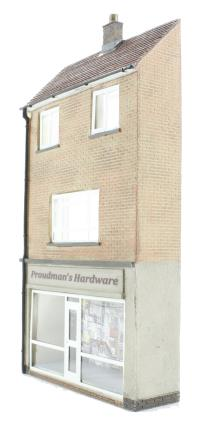 Bachmann Branchline 44-256 Low relief hardware store with maisonette (70 x 19 x 132mm)