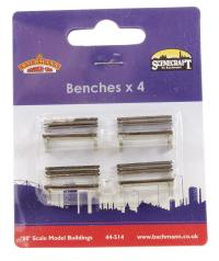 Bachmann Branchline 44-514 Wooden Benches x 4 (not modern red metal as previously announced)