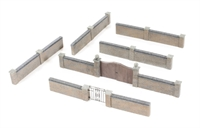 Bachmann Branchline 44-541 Walls & Gates (4.5 x 16mm)