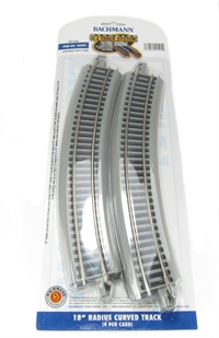 Bachmann USA 44501 18in. Radius Curved Track (4/Card)