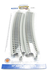 "Bachmann USA 44503 22"" Radius Curved Track (4/Card)"