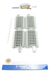 Bachmann USA 44512 3in.Straight Track (4/Card)