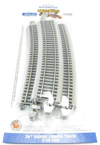 Bachmann USA 44519 26in.Radius Curved Track (5/Card)