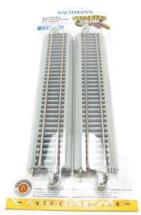 Bachmann USA 44548 Nickel Silver E-Z Track Reversing 9in.Straight (4/Card)
